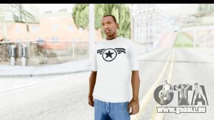 Captain America White T-Shirt pour GTA San Andreas