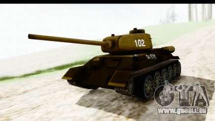 T-34-85 Rudy 102 für GTA San Andreas