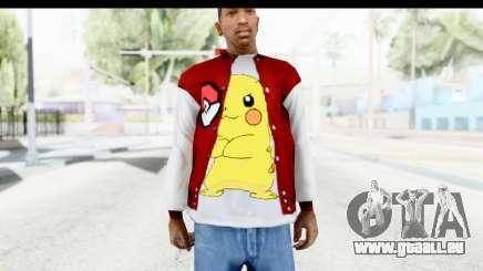 Jacket Pokemon Pokeball für GTA San Andreas