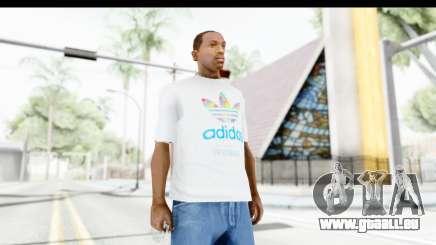 Adidas White T-Shirt für GTA San Andreas