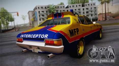 Main Force Patrol Vehicle Mad Max pour GTA San Andreas laissé vue