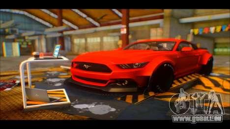 Ford Mustang 2015 Liberty Walk LP Performance pour GTA San Andreas vue arrière