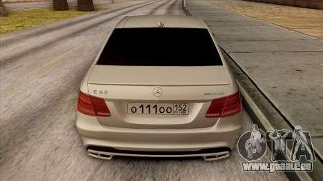 Mercedes-Benz E63 v.2 für GTA San Andreas Motor