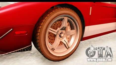 GTA 4 TboGT Bullet pour GTA San Andreas vue arrière