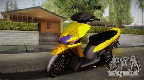Honda Vario Yellow Shines für GTA San Andreas
