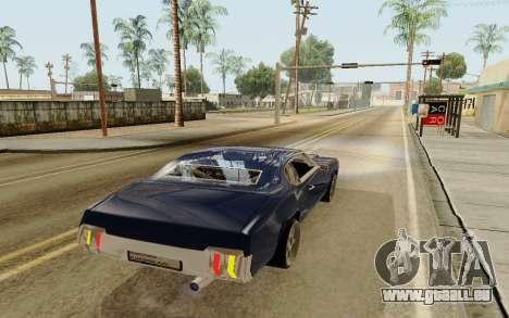HD Sabre Greedy pour GTA San Andreas sur la vue arrière gauche