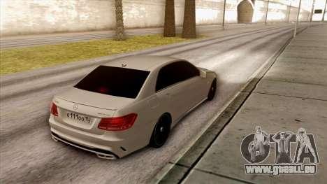 Mercedes-Benz E63 v.2 für GTA San Andreas Rückansicht