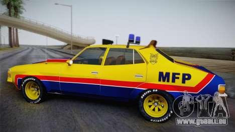 Main Force Patrol Vehicle Mad Max pour GTA San Andreas sur la vue arrière gauche