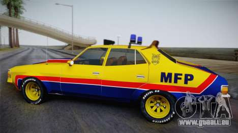 Main Force Patrol Vehicle Mad Max für GTA San Andreas zurück linke Ansicht
