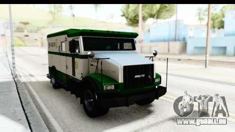 GTA 5 Stockade v2 pour GTA San Andreas vue de droite