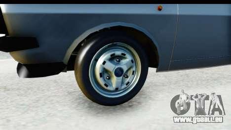 Dacia 1300 Sport Cabrio pour GTA San Andreas vue arrière