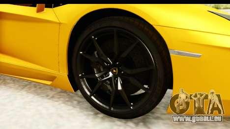 Lamborghini Aventador LP700-4 Roadster v2 für GTA San Andreas Rückansicht