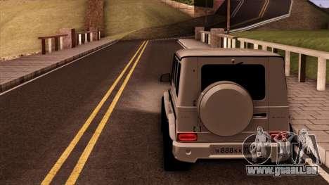 Mercedes-Benz G65 für GTA San Andreas Rückansicht