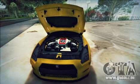 Nissan GT-R R35 Premium pour GTA San Andreas vue de côté