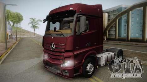 Mercedes-Benz Actros Mp4 4x2 v2.0 Bigspace v2 pour GTA San Andreas