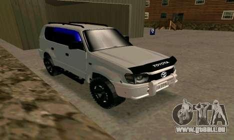 Toyota Land Cruiser 95 pour GTA San Andreas vue de droite