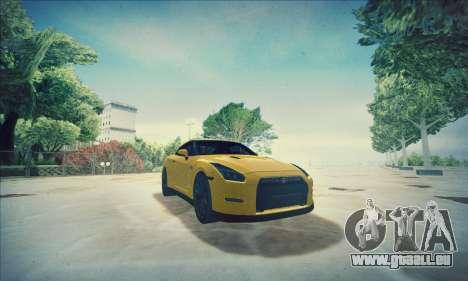 Nissan GT-R R35 Premium pour GTA San Andreas vue de dessus