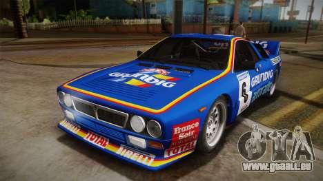 Lancia Rally 037 Stradale (SE037) 1982 Dirt PJ3 für GTA San Andreas rechten Ansicht