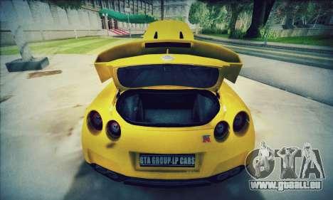 Nissan GT-R R35 Premium pour GTA San Andreas vue intérieure