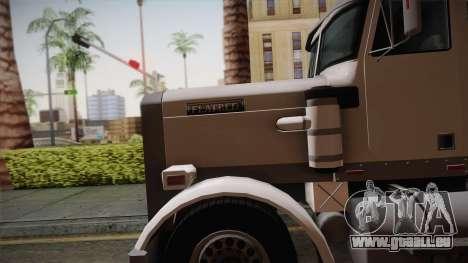 GTA 4 Flatbed pour GTA San Andreas sur la vue arrière gauche