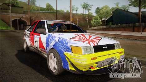 Toyota AE86 2 Door Levin pour GTA San Andreas
