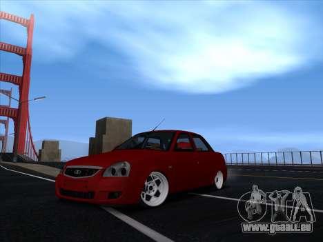 VAZ 2170 STANCE für GTA San Andreas zurück linke Ansicht