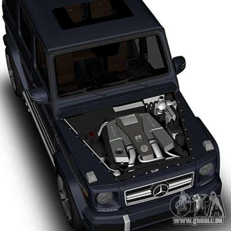 Mercedes-Benz G63 pour GTA San Andreas vue de droite