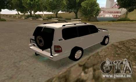 Toyota Land Cruiser 105 pour GTA San Andreas vue de droite