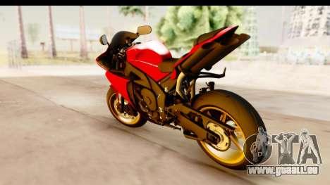 Yamaha R1 2014 pour GTA San Andreas laissé vue