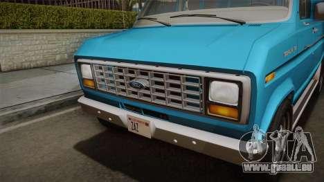 Ford E-150 Commercial Van 1982 2.0 pour GTA San Andreas vue de droite