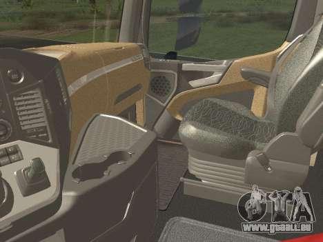 Mercedes-Benz Actros Mp4 6x4 v2.0 Gigaspace pour GTA San Andreas vue intérieure
