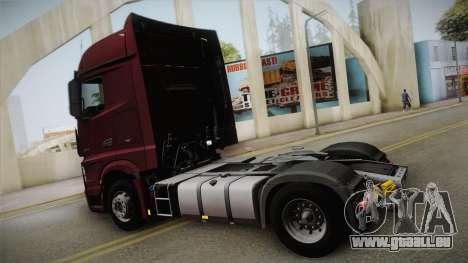 Mercedes-Benz Actros Mp4 4x2 v2.0 Bigspace v2 für GTA San Andreas linke Ansicht