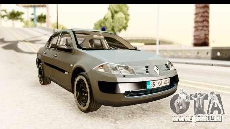 Renault Megane 2 Sedan Unmarked Police Car pour GTA San Andreas