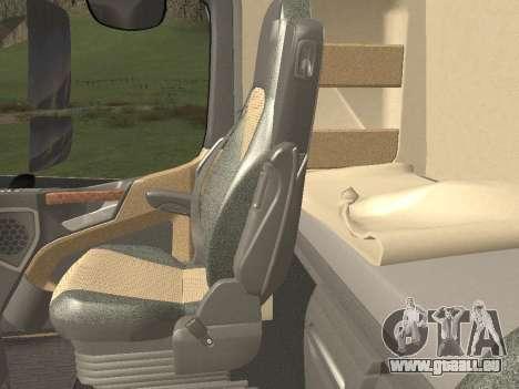 Mercedes-Benz Actros Mp4 6x2 v2.0 Bigspace v2 für GTA San Andreas Unteransicht