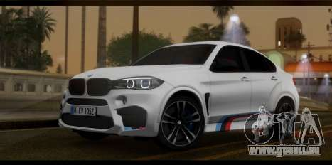 BMW X6M F86 M Performance pour GTA San Andreas