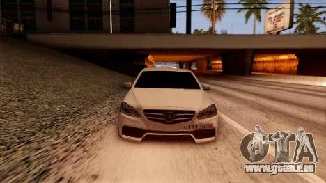 Mercedes-Benz Е63 für GTA San Andreas Rückansicht