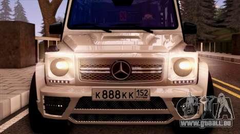 Mercedes-Benz G65 pour GTA San Andreas vue intérieure