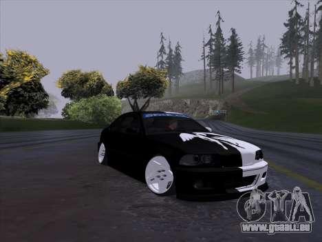 BMW E46 Good and Evil pour GTA San Andreas sur la vue arrière gauche