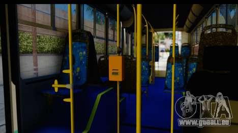 Metrobus de la Ciudad de Mexico für GTA San Andreas Rückansicht