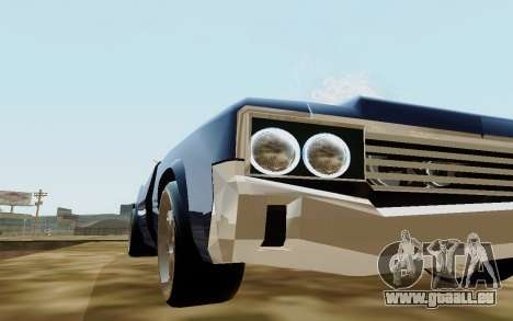 HD Sabre Greedy pour GTA San Andreas vue de droite