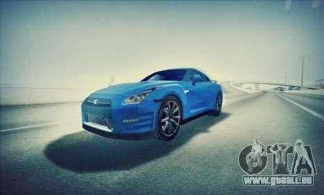 Nissan GT-R R35 Premium pour GTA San Andreas vue de droite