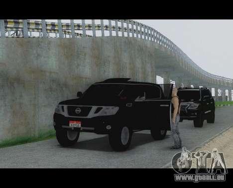 Nissan Patrol pour GTA San Andreas sur la vue arrière gauche