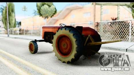 Fireflys Tractor pour GTA San Andreas laissé vue