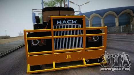 Mack R600 v1 pour GTA San Andreas vue de droite