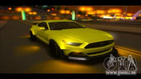 Ford Mustang 2015 Liberty Walk LP Performance pour GTA San Andreas vue intérieure