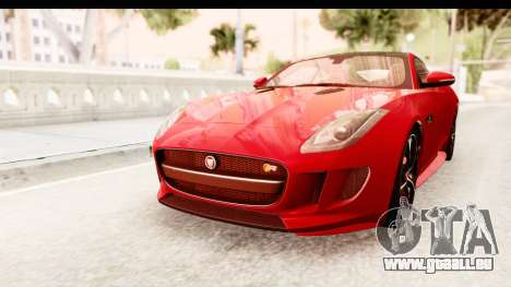 Jaguar F-Type R Coupe 2015 für GTA San Andreas rechten Ansicht