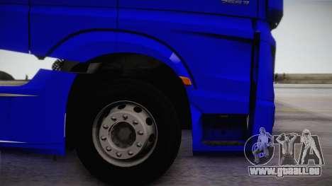 Mercedes-Benz Actros Mp4 6x4 v2.0 Gigaspace pour GTA San Andreas vue de droite