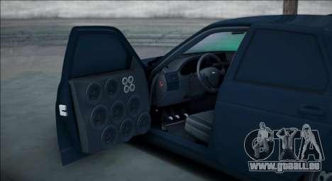 VAZ 2112 Bpan pour GTA San Andreas sur la vue arrière gauche
