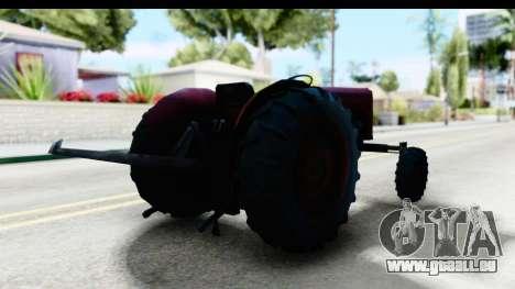 Fireflys Tractor pour GTA San Andreas sur la vue arrière gauche