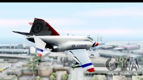 F-4 Phantom II Thunderbirds für GTA San Andreas rechten Ansicht